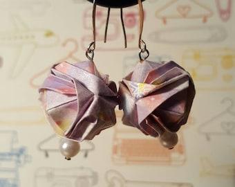 Brocade origami earrings
