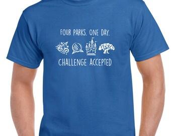 Four Parks. One Day. Disney Tshirt