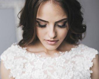 Bridal Crystal Hair Vine, Hair Crystal Vine, Hair Accessories, Crystal Long Vine, Bridal Crystal Hair piece rose gold or silver