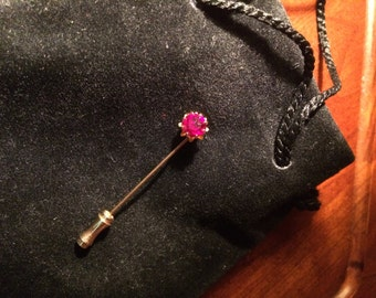 Ruby and Gold Stick Pin