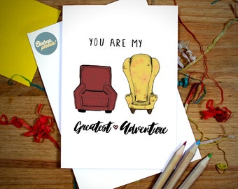 You Are My Greatest Adventure! UP Disney Pixar Greeting Card Anniversary, Birthday, Valentines