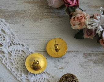 Button style couture BOUT147 2.2 serious Golden cm - laminated metal button