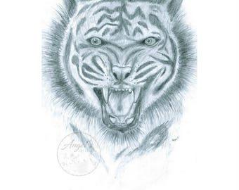 Growling Tiger Print