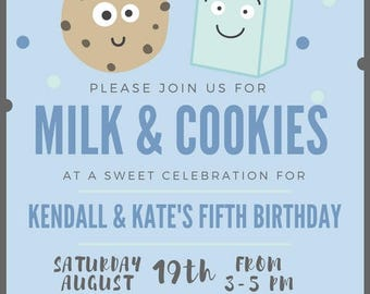 Milk and Cookies Birthday - CUSTOMIZABLE