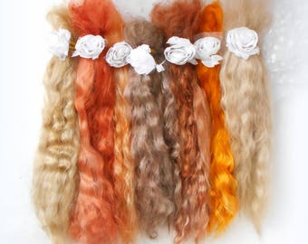 doll hair Mohair,Goat curls for dolls, curls for doll hair, doll hair,goat locks