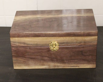 Black Walnut keep sake box with highlights