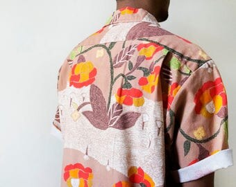 gents 60s Hawaiian cotton shirt by Alohawaii, size large