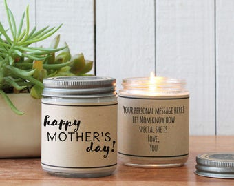 Happy Mother's Day Soy Candle | Mother's Day Gift | Gift for Mom | Soy Candle Gift | Birthday Gift for Mom | Mom Gift