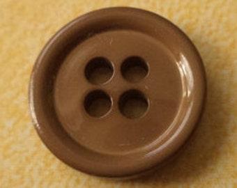 10 small brown buttons 11mm (74) shirt buttons