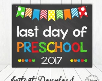 This is a graphic of Massif Last Day of Preschool Printable