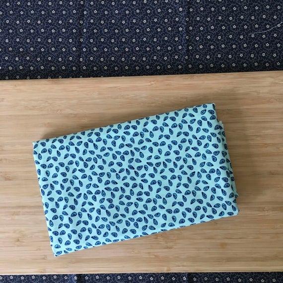 Furoshiki Gift Wrapping Cloth - Japanese Cotton Furoshiki - Raindrop Sakura Design by Kendo Girl