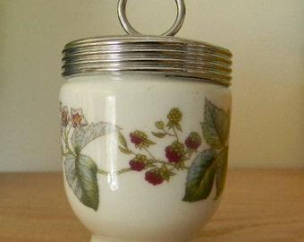 Vintage Royal Worcester Porcelain Egg Coddler - Lavinia pattern with berries