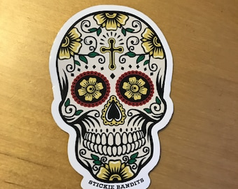 Skull Day of the Dead Sticker