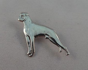 Vintage Stirling Silver Boxer Dog Brooch/Pin