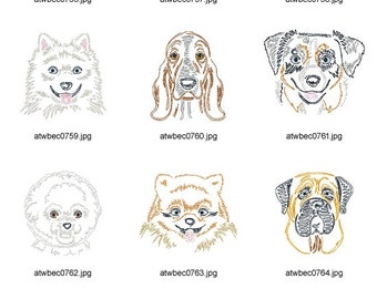 Zig-Zag-Dog-Breeds-3 ( 10 Machine Embroidery Designs from ATW ) XYZ17A