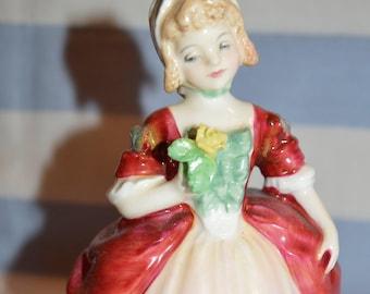 c. Royal Doulton Figurine, Valerie HN2107, 1952, miniature, Valerie HN2107