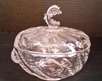 Covered Candy Dish Heisey Sea Design