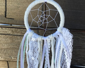 Dreamcatcher mini, white Dreamcatcher, handmade gift