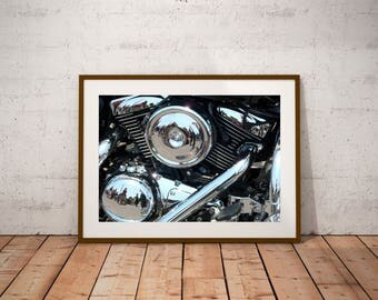 "San Francisco Photography, California, Harley Davidson, Fine Art Photography, 20 cm x 30 cm, 8"" x 12"""