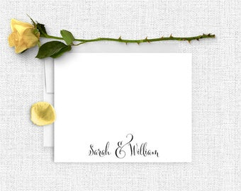 Wedding Thank You Notes, Personalized Wedding Stationery, Couples Stationary, Thank You Cards,  Wedding Notes, Calligraphy Wedding, WS02