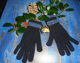 Knit gloves winter stretchy 90s / Vintage/women/all sizes