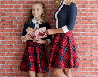 Mother Daughter Matching Dress, Plaid Baby Dress, Mother Baby Matching Dress, Plaid Dress, Mommys Girl Dress, Party Dress, Family Clothing