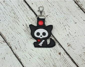 Skelli Cat Keychain/Zipper Pull