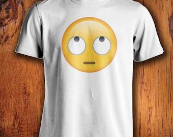 how to make eye roll emoji