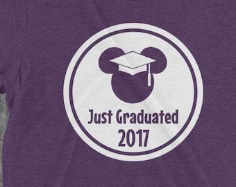 DISNEY MICKEY MINNIE MOUSE GRADUATION CLASS OF 2017 T ... |Graduation Mickey Mouse Shirts