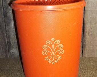 Vintage Orange Tupperware Canister (w/lid) #807