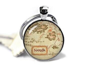 Narnia Keychain Narnia Map Keyfob  Narnia Map Keyring