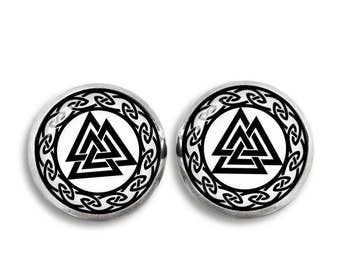 Valknut Stud Earrings Viking Norse Fandom Jewelry  Fangirl Fanboy