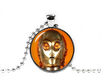 C3PO Necklace Star Wars Pendant Robot Necklace Geeky Jewelry