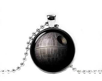 Death Star Necklace Star wars Pendant Fandom Jewelry Geeky Fangirl Fanboy