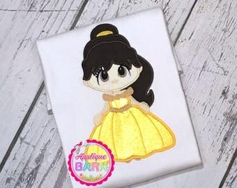 Princess Belle Applique design