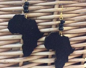Africa map earrings Etsy