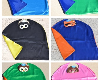Octonauts Cape and Mask - Birthday Party Favor. Great for Kids Boy Girl Child Toddler Superhero Costume Outfit. Personalized Name Available