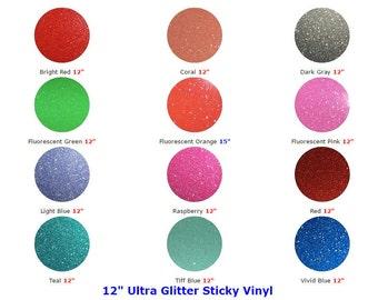 """Glitter Sticky Vinyl Sheets 12"""" x 12"""""""