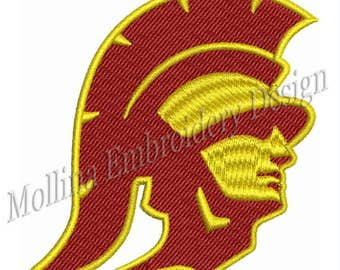 Southern California Trojans Logo Machine Embroidery Design 3 Sizes