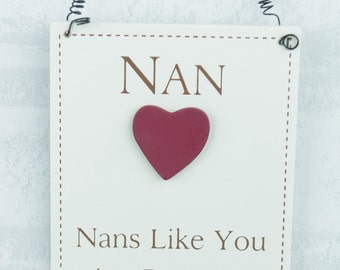 Plaque Nan's Like You Are Precious And Few Mothers Day Nan Sign Gift F1458