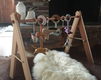 Wooden Baby Gym   Activity Gym, Natural Wood Eco Friendly Organic