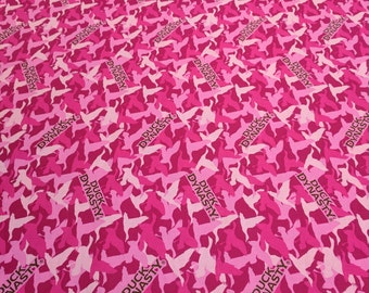 Duck Dynasty Pink Camoflage Cotton Fabric