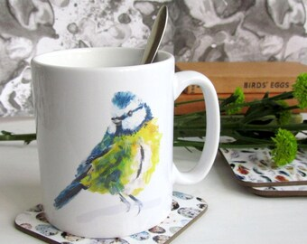 British Birds - Bluetit Ceramic Mug