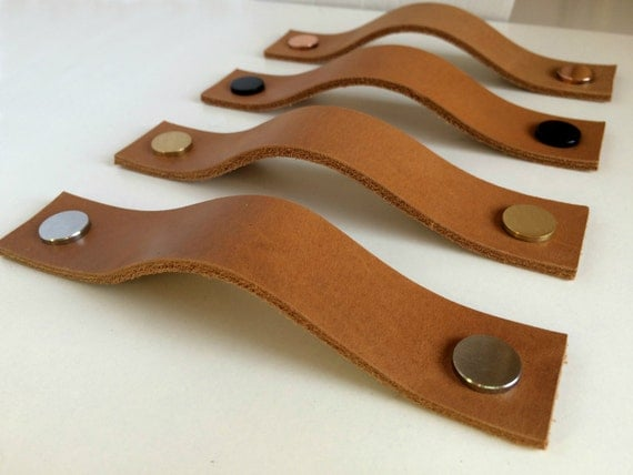 Leather Pulls Leather Handles Leather Cabinet Hardware