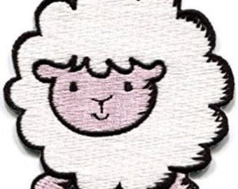 White Sheep Iron on Applique, Cute White Lamb Iron on Patch, Iron-on Application