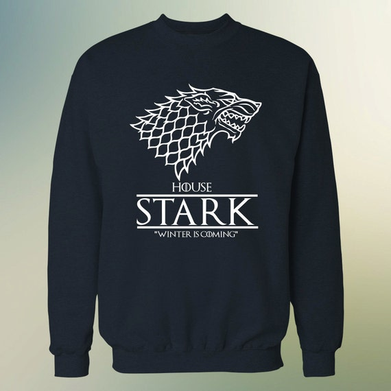"""House Stark """"Winter is Coming"""" Game of Thrones Sweater S-4XL"""