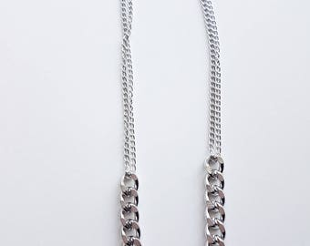 METAL CHAIN NECKLACE, silver, metal, fashionable, women gift, accessories, gift, women, An If In Chains, Halskette, catena, chaîne