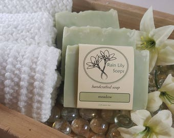Meadow Soap, Handcrafted Soap, Bar Soap, Fresh Scent, Vegan Soap