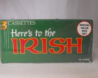 Here's to the Irish! Three Cassette Box Set Music Traditional   (369)