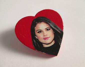 Selena Gomez Heart Pin